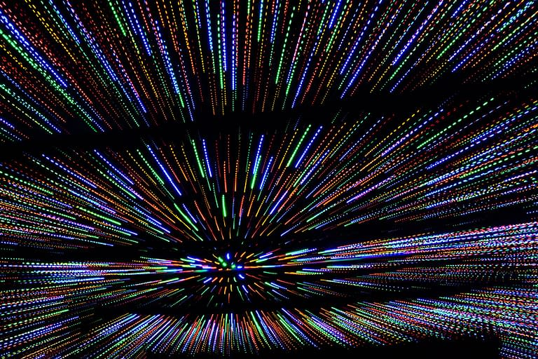 Try creating unique art from a holiday light display. Here the photographer turned the zoom ring on the lens barrel as the photograph was captured. Set the camera to either manual or shutter priority exposure mode so you can control the duration of the shutter speed. Shutter speed 1/6 second. Photo by: Diane Berkenfeld
